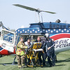 First responders work to load a injured student into a helicopter during a mock accident at the Dieterich School on Tuesday. The event was organized by Dieterich Fire Chief Ross Martin ahead of prom on Friday. Graham Milldrum photo