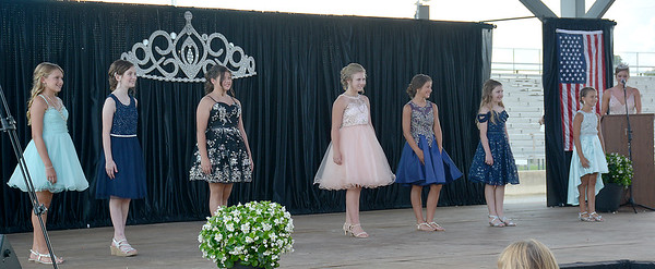 Effingham County Junior Miss group two poses in their party looks during the 2020 pageant.