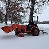 Marvin Debolt, Shumway, plowing snow from the lane.<br /> Submitted by Linda Debolt.