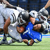 Hamilton College quarterback Nigel Scott (1)<br /> <br /> 9/18/21 1:21:44 PM Football:  Bowdoin College v Hamilton College at Steuben Field, Hamilton College, Clinton, NY<br /> <br /> Final:  Bowdoin 7    Hamilton 16<br /> <br /> Photo by Josh McKee