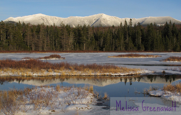 A layer cake of seasons and summits from the shore of Lonesome Lake.  The Franconia Ridge is further away than it seems, across the Notch!