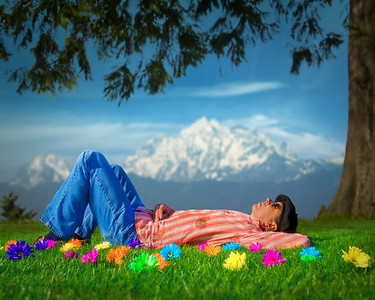 1st Place: PaulThomasMcKee - Kickin' Back in the Meadow of My Imagination (DSS Mega-Challenge #2: My Favorite Place)