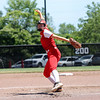 St. Anthony's Lucy Fearday pitches the ball during a softball game against Marissa (Coulterville) in the Class 1A Super-Sectionals, Monday, June 14, 2021, at Johnston City High School, in Johnston City, Illinois. (Alex Wallner/Effingham Daily News)