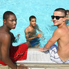 Keean Green, Zavier Yarbrough and Israer Nito hanging out at Kokomo Beach.<br /> KT photo   Tim Bath