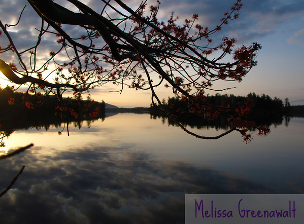 An explosion of maples along the shore of Squam Lake echoes the incoming clouds.  There's such a feeling of motion in complete stillness.