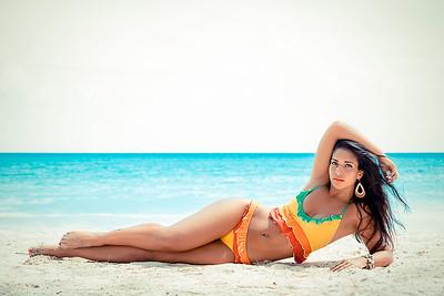 Paula Souza at Miami Beach Barbados 2013 winner of Miss Brazil UK.