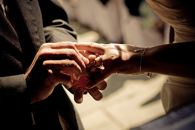 Wedding rings at Winters Barn.