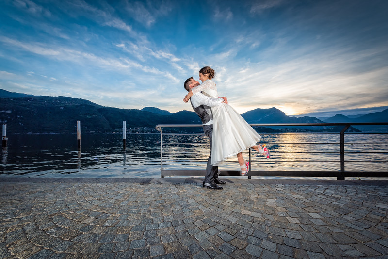 Bea and Agu get married in Mandello Del Lario, Italy