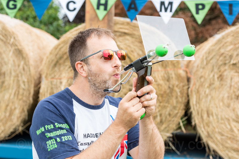 World Pea Shooting Championships, Witcham, Cambridgeshire UK