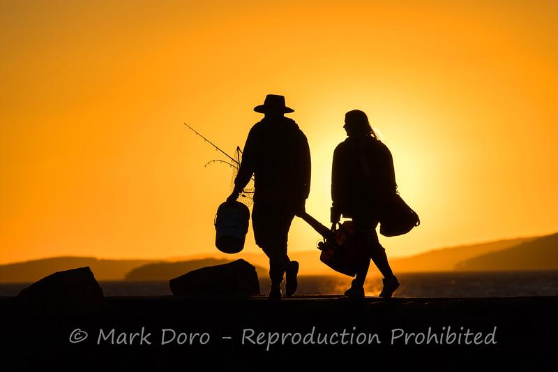 Fishermen heading home, Port Stephens, NSW