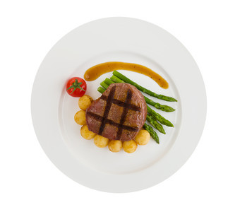 Tenderloin isolated steak