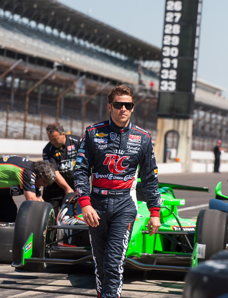 Marco Andretti at the Indianapolis Motor Speedway...