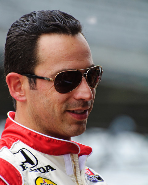 Helio Castroneves at the Indianapolis Motor Speedway...