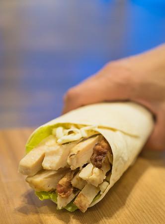 White meat chicken Wrap