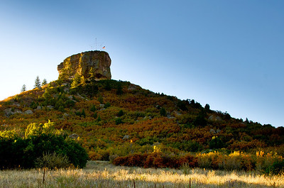 "The sun rising on ""The Rock"" Castle Rock, Colorado September 30, 2011"