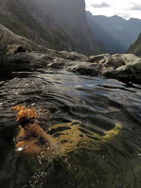Tiff Stephens in the rock pool