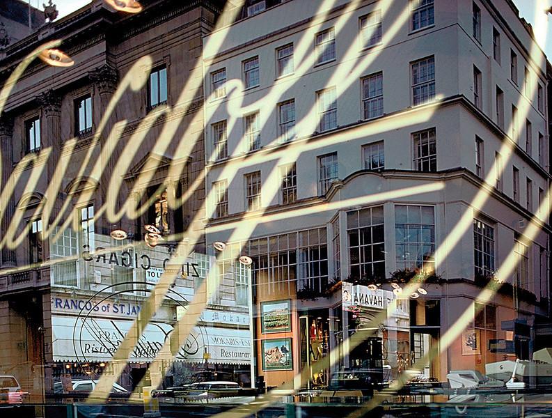 Reflections in Shop Window, London