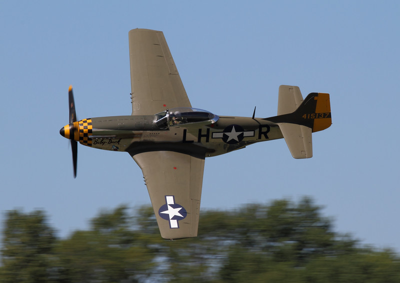 Warbird Heritage Foundation's  P-51 Mustang, performing a photo pass at the skilled hands of Vlado Lenoch.