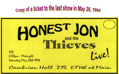 Ticket with banner