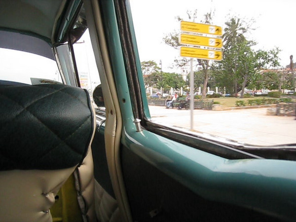 Havana - taxi ride in an old car