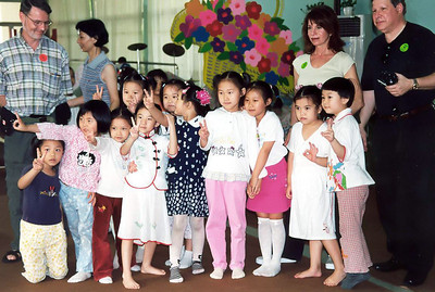China, children at school visit  SM