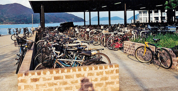 Bikes at Lantau Island ferry terminal SM
