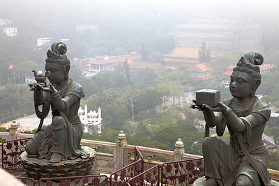 View of Po Lin Monastery and grounds from the Big Buddha.