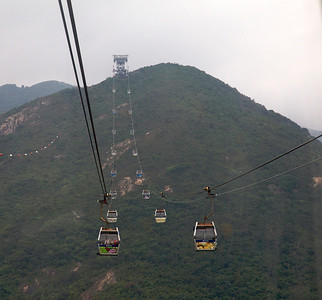 Ngong Ping 360 cable car ride to the Big Buddha on Lantau Island.  Spectacular views on the 25-minute, 4-mile trip.