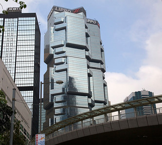 "One of the twin Lippo Towers in Hong Kong known as the ""Koala Tree"" buildings."