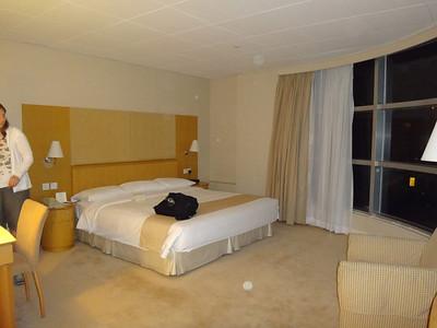Hong Kong hotel room and view