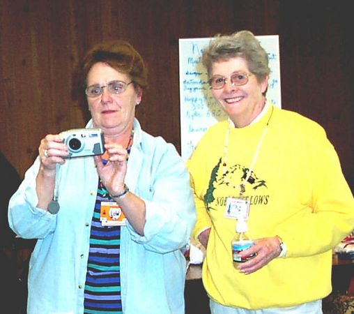 How Does This Camera Work??? Jeanne Hallberg and Shirley Mulhern trying to figure it out.