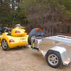 The pillion buddy's trailer.