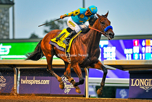 American Pharoah wins the Breeders' Cup Classic
