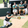 Don Knight | The Herald Bulletin<br /> Pendleton Heights catcher Jordan Dean catches a fly ball as the Arabians hosted Jennings County during their Horseshoe Classic softball tournament on Saturday.
