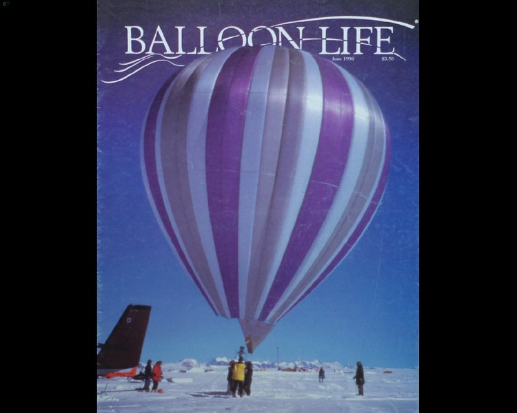 Jimi, the first balloon I designed and built, just before making the first-ever balloon flight above Antarctica.