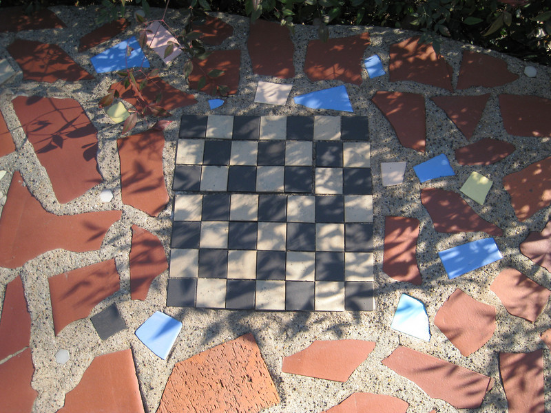 Checkerboard in the walkway?