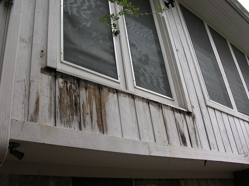 Rotten wood to be replaced.