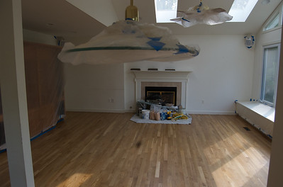 isn't the floor beautiful?  getting ready to paint.