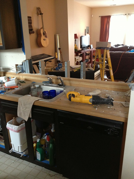 added this one -- we had butcher block-ish counters -- they were actually fake wood/ formica ...