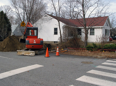 Finally replacing the original sewer pipe which lasted almost 50 years.