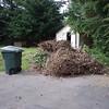 Yard waste pile