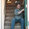 Carl installing hardware