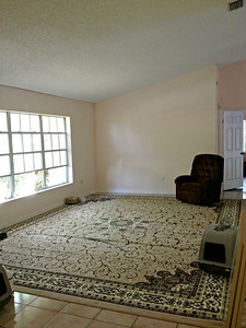 "Formal living room. Have no furniture for it so it's a ""cat room""."