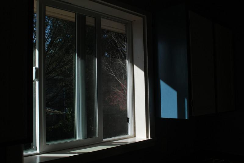 Freshly painted window trim