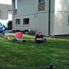 Freshly mown lawn