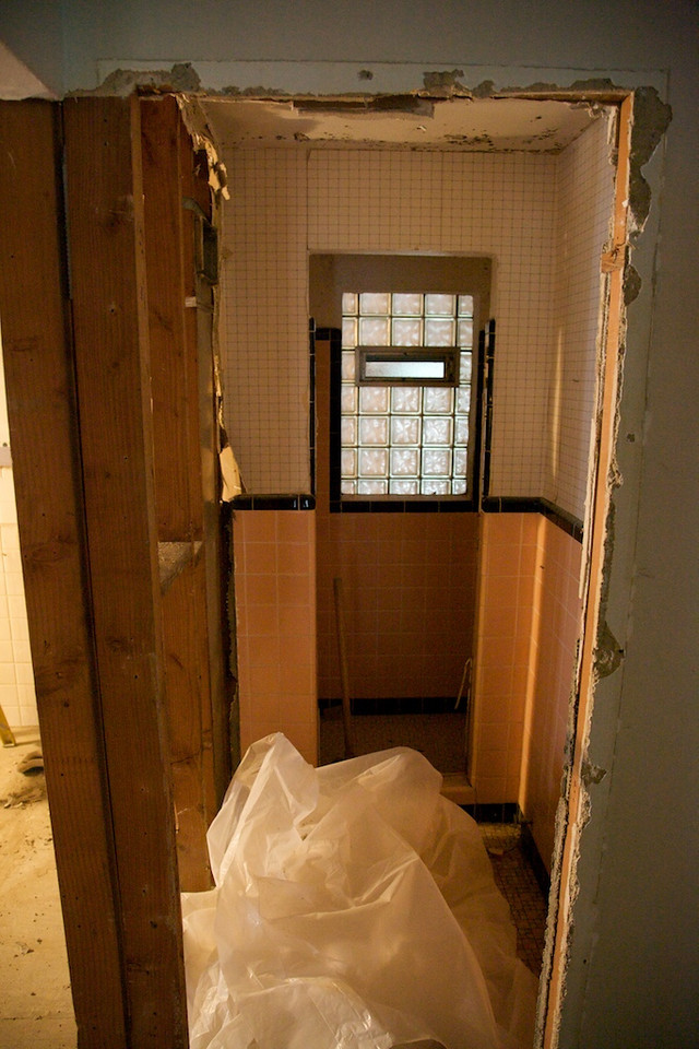 Aug 27 - the old lower bath gone