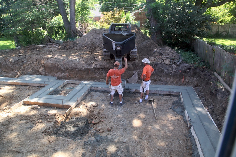 June 29 - foundation footings - Joe Brown and crew