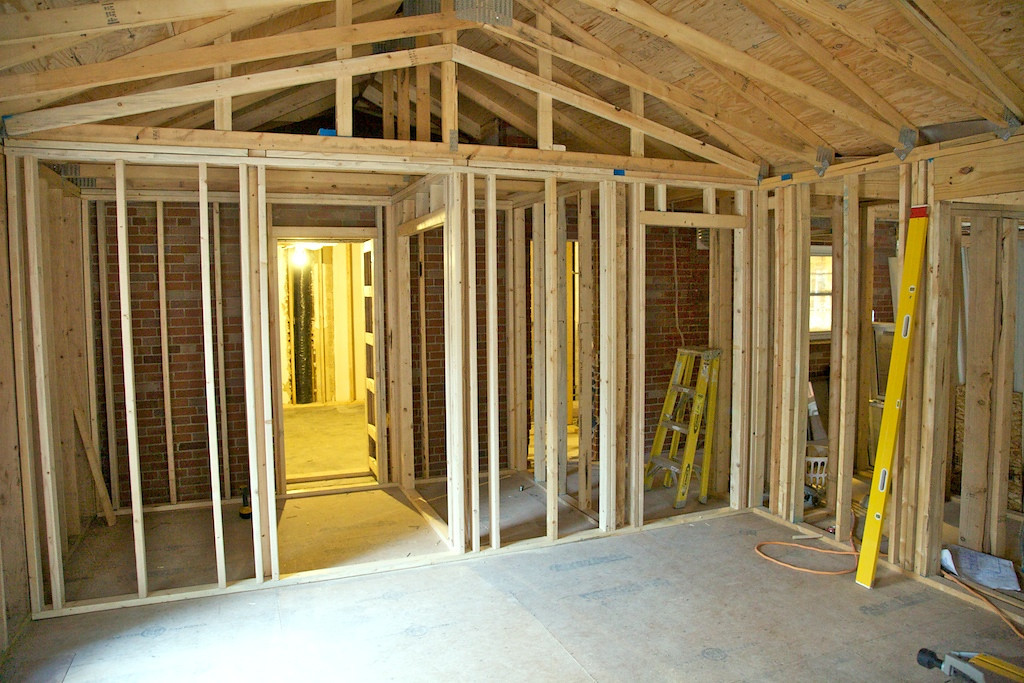 Sept 3 - we have walls up for the closets in the master bedroom
