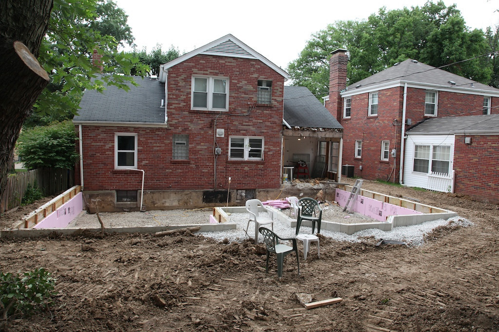 July 12 - foundation completed and backfilled
