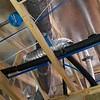 Fan power junction box installed